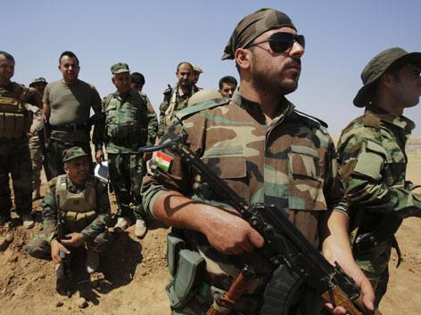 Kurdische Peschmerga-Kämfer im Irak