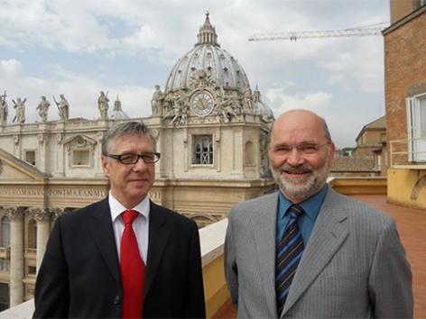 Walter Baier und Franz Kronreif im Vatikan
