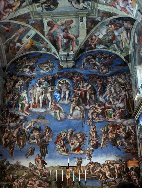 Die Deckenfresken von Michelangelo in der Sixtinischen Kapelle