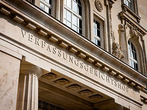 Die Fassade des Verfassungsgerichtshofs