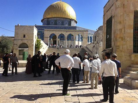 Polizei am Tempelberg in Jerusalem