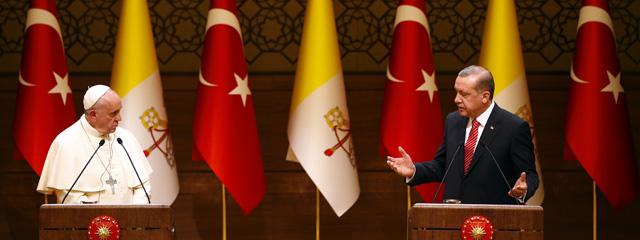 Papst Franziskus und Präsident Erdogan