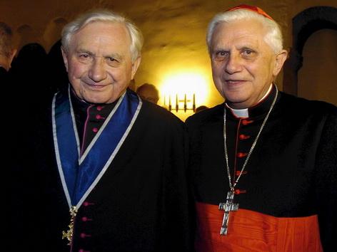 Die Brüder Georg und Joseph Ratzinger