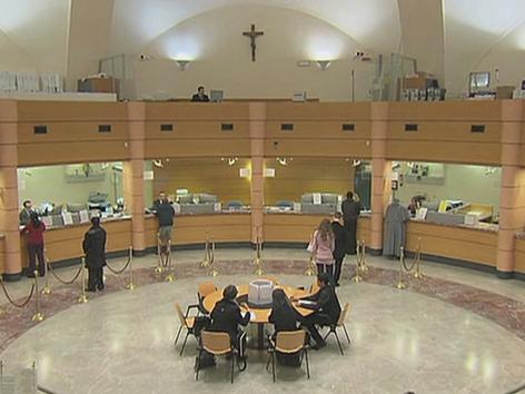 Kassahalle der Vatikanbank IOR