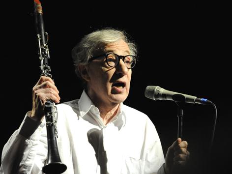 Woody Allen bei einem Konzert in der Wiener Stadthalle (2010)