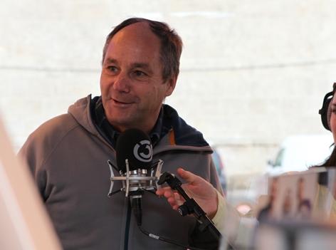 Gerhard Berger versucht sich als Verkehrsredakteur