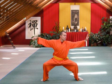 Wolfgang Gall in seinem Shaolin-Tempel
