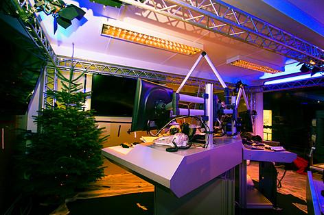Studioaufbau für das Ö3-Weihnachtswunder