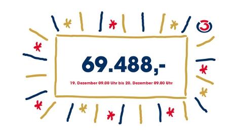 Spendenzwischenstand beim Ö3-Weihnachtswunder