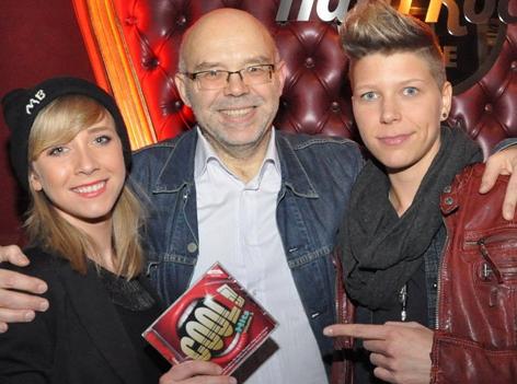 Miss Bex, Mario Rossori und Virginia Ernst bei der CD-Präsentation