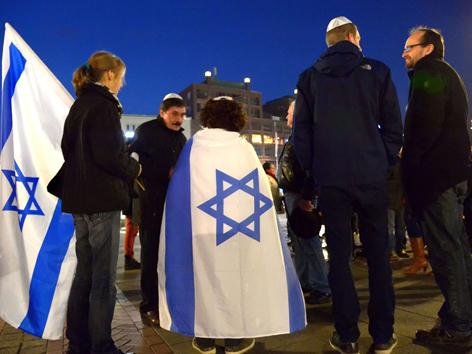 Kippa Flashmob Antisemitismus