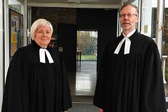 Oberkirchenrätin Hannelore Reiner und Pfarrer Ortwin Galter