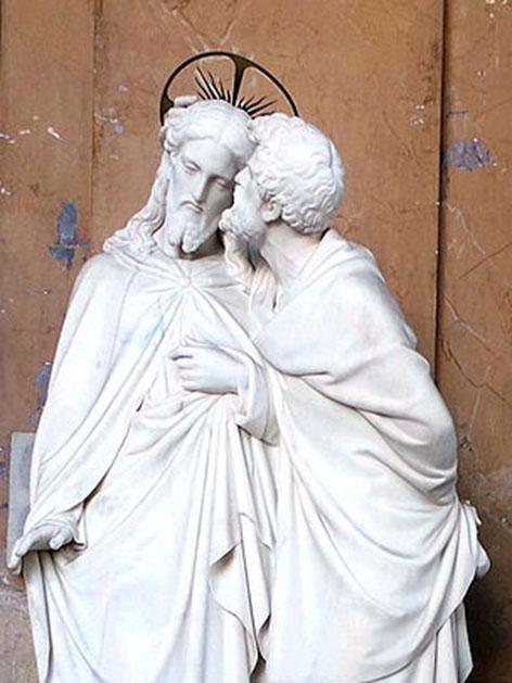 Skulptur von Ignazio Jacometti: Jesus und Judas