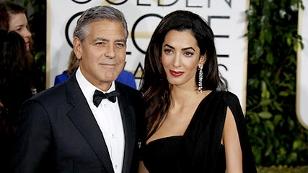 George und Amal Clooney auf dem roten Teppich