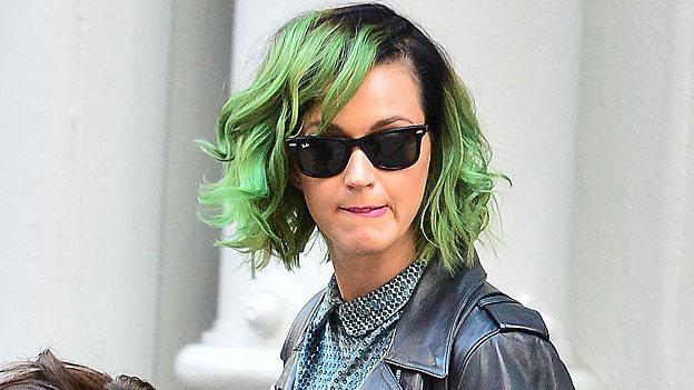Katy Perry mit grünen Haaren