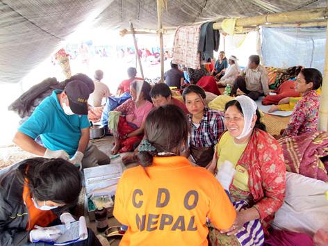 Hilfeleistungen der Care and Development Organization (CDO) nach dem Erdbeben in Nepal
