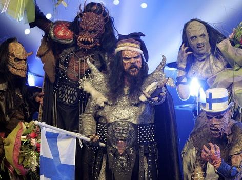 Lordi feiern Song Contest Sieg 2006 in Athen