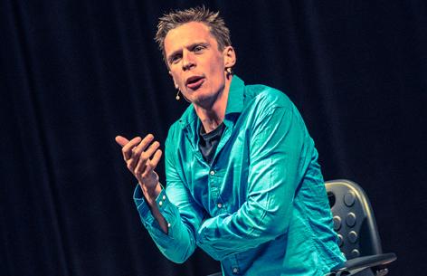 Klaus Eckel auf der Bühne
