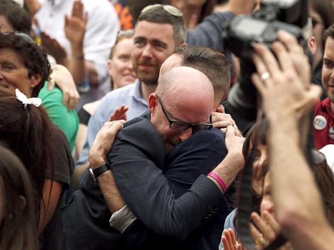 Freude nach dem Referendum zur Homosexuellenehe in Irland