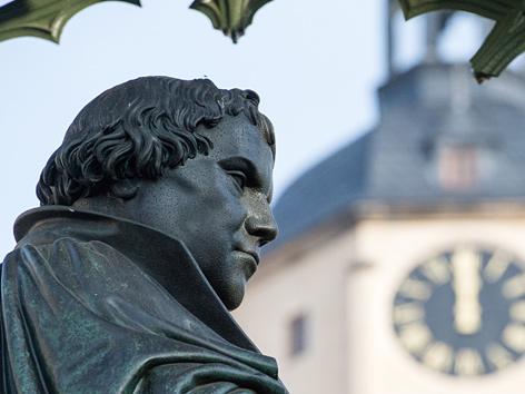 Denkmal Martin Luthers in Wittenberg (Sachsen-Anhalt)