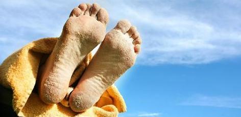 Sand auf den Füßen