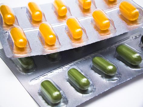 Medikamente in der Verpackung