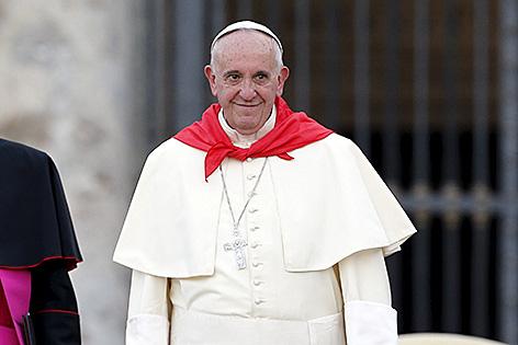 Papst Franziskus bei der Ministrantenwallfahrt in Rom