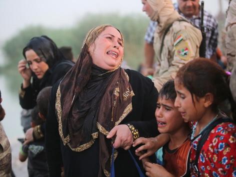 Vertriebene auf der Flucht Bagdad