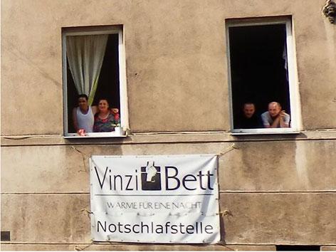 Bewohner der Notschlafstelle VinziBett
