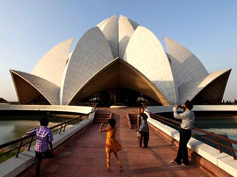 Bahai-Tempel in New Delhi, Indien
