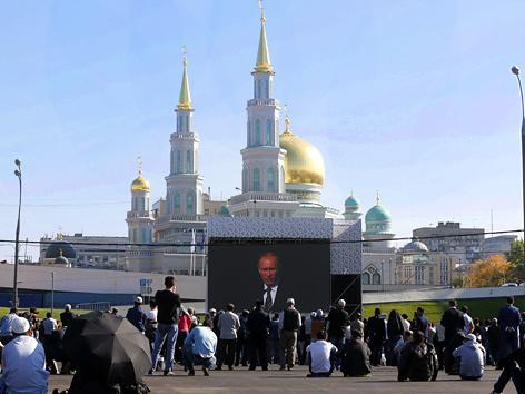 Einweihung der Großmoschee in Moskau