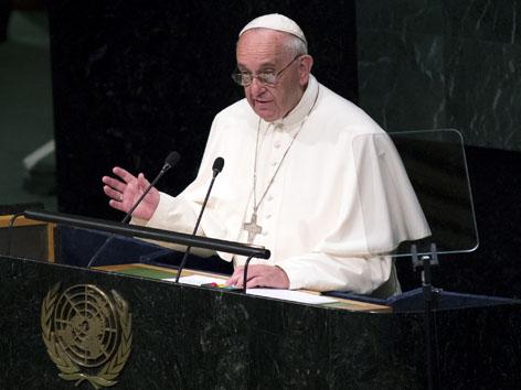Papst Franziskus spricht vor dem UN Weltsicherheitsrat
