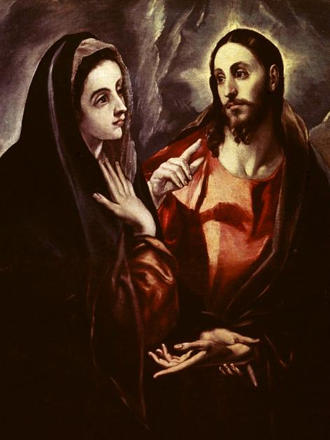 """El Grecos (1541-1614) """"Der Abschied Christi von seiner Mutter"""""""