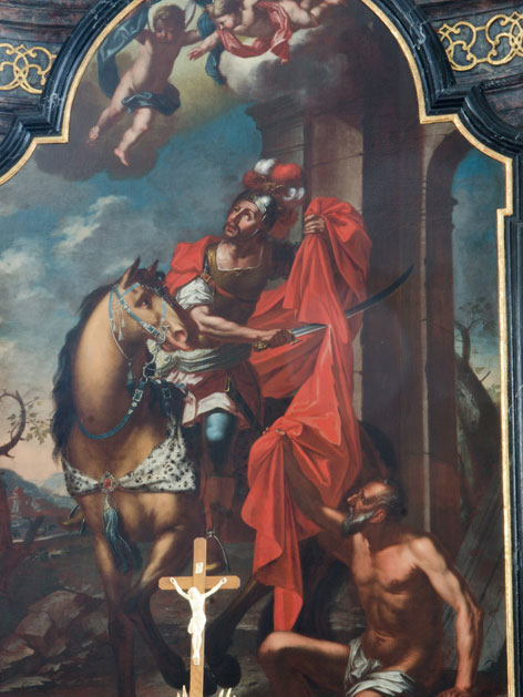 Darstellung des Heiligen Martin in der Kirche St. Martin an der Raab im Burgenland