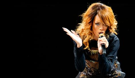 Rihanna auf der Bühne