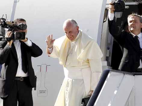Papst Abschied Uganda