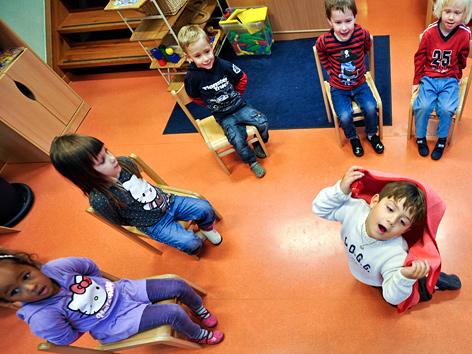 Kinder in einem Wiener Kindergarten