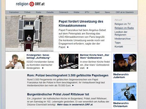 Startseite von religion.ORF.at