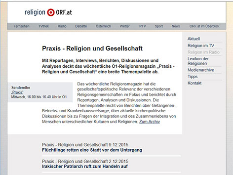 """Praxis"" - religion.ORF.at"