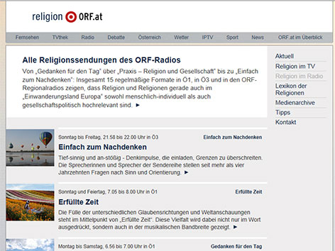 """Religion im Radio"" - religion.ORF.at"