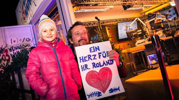 Robert Kratky mit einem jungen Fan