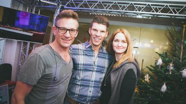 Runtastic CEO Florian Gschwandtner mit Gabi und Andi
