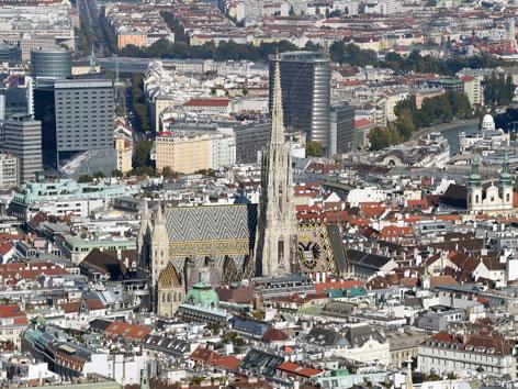 Luftaufnahme vom Stephansdom