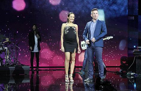 Conchita, Alice Tumler und Andi Knoll auf der Bühne