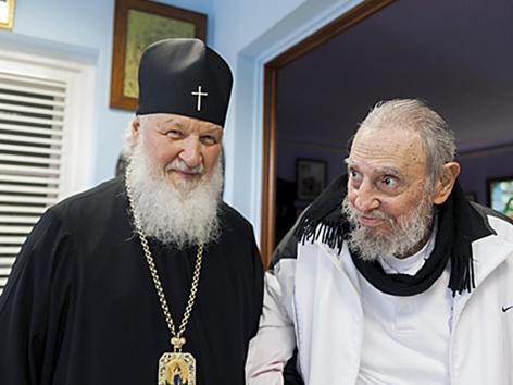 Kyrill bei Fidel Castro