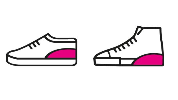 Schuheinlagen, die größer machen