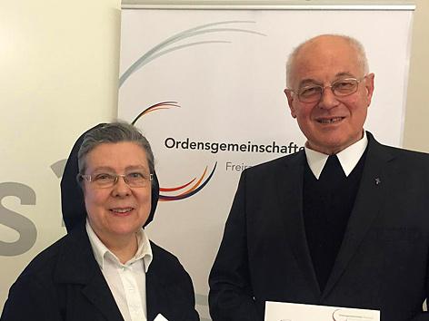 Frauenordens-Präsidentin Sr. Beatrix Mayrhofer und Männerorden-Vorsitzender Abtpräses Christian Haidinger