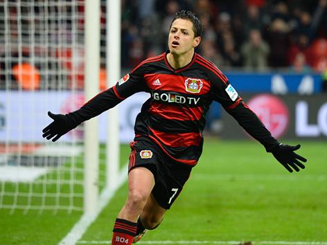 """Der Fußballer Javier Hernandez (""""Chicharito"""")"""