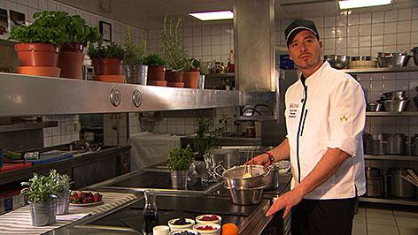 Thomas Bodnariuk in der Küche