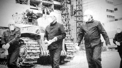 Mitglieder der Aufräumkommission in Tschernobyl